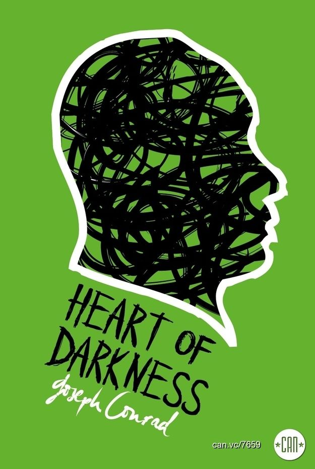 Heart of Darkness | 25 Beautifully Redesigned Classic Book Covers // March 2015 book club