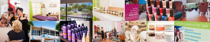 A little collage of our salon including a pic of Katie our senior stylist....