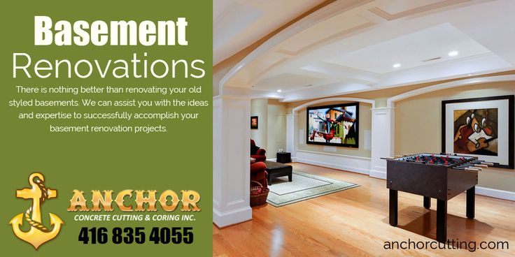 Do have no ideas where and how to start your basement finishing projects? Consult us, Anchor Concrete Cutting and Coring are the pioneer in Basement Renovation Service to make your living space a perfect place.  7900 Hurontario Street L6Y 0C7 Brampton, Ontario  #Basement #Renovation #Brampton #Mississauga #Basement_Renovation_Service
