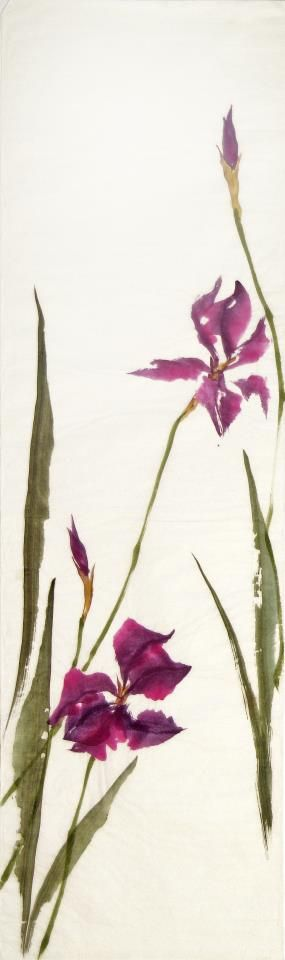 Lovely irises. Elegant watercolor.