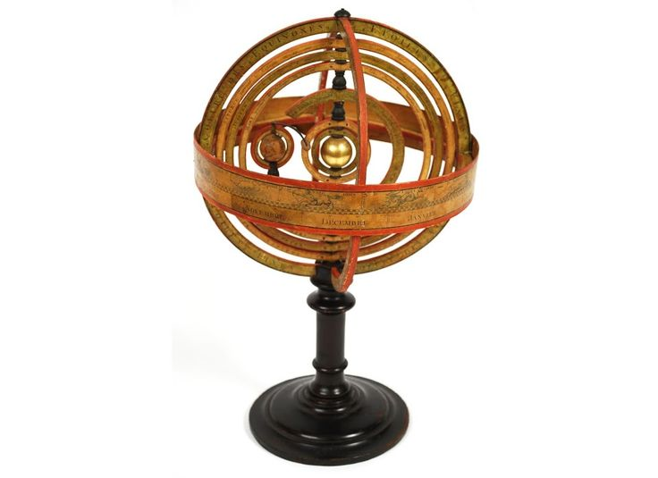 Rare and antique French armillary sphere, early XIX century. Very good condition, a small defect. Height cm 41 - inches 16.14, diameter cm 25 - inches 9.84.