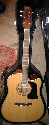 REDUCED! Washburn D10SCE NAT Electric Acoustic Guitar&Case 5 yrs old Nver Played