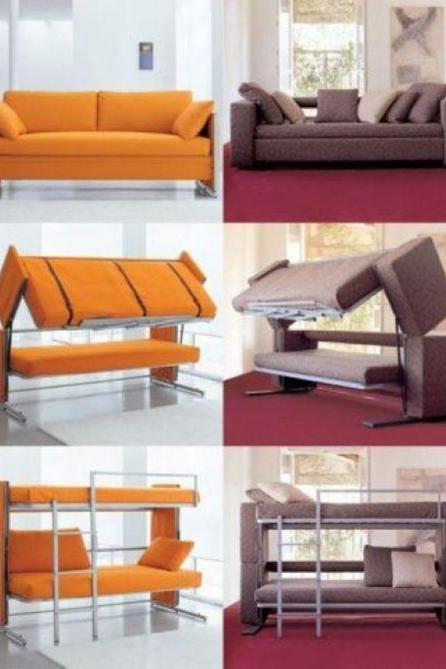 Couch turns into a bunk bed Home, Furniture, Home decor