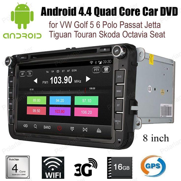 Android4.4 Car DVD Quad Core radio wifi 3G BT GPS For V/W G/olf 5 6 P/olo P/assat J/etta T/iguan T/ouran S/koda O/ctavia S/eat