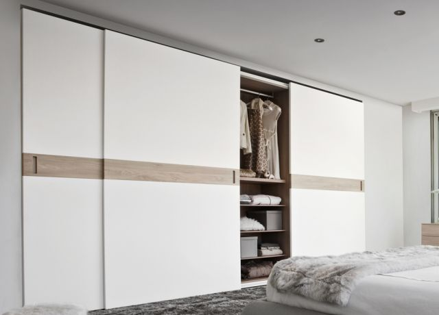Floor-to-ceiling built-in wardrobe