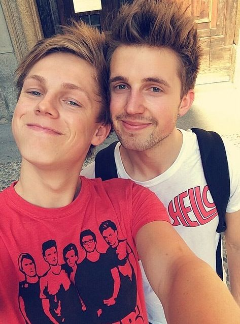 Casper Lee & Marcus Butler. And just saying but Marcus looks a lot like a cute senior in my school, Their resemblance is fascinating!