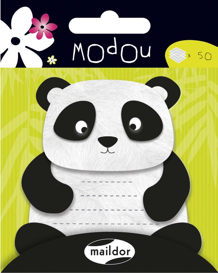 """New Maildor """"Modou"""" sticky notes this one with a #panda"""