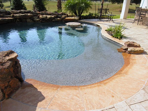 Charming Swimming Pool With A Beach Perimeter