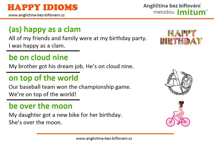 How are you feeling today? We hope you are in a good mood. Here are some idioms we use to show we are happy.