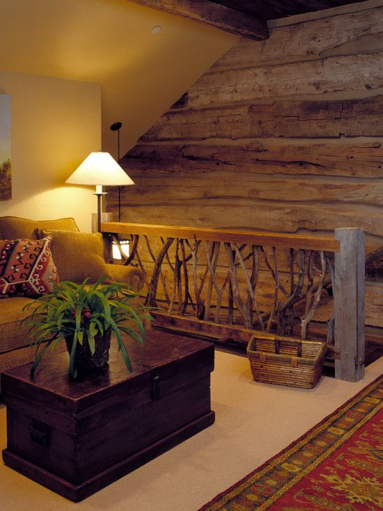 """a loft-type nook could make a cool, cozy space for media room"" ""Wood plank walls for attic"" ""warm, loft style,...Like for loft area...Loft Space...loft in log home...Attic reading area...Artist loft...area for loft"" ..."