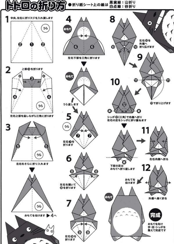 how to make totoro origami.