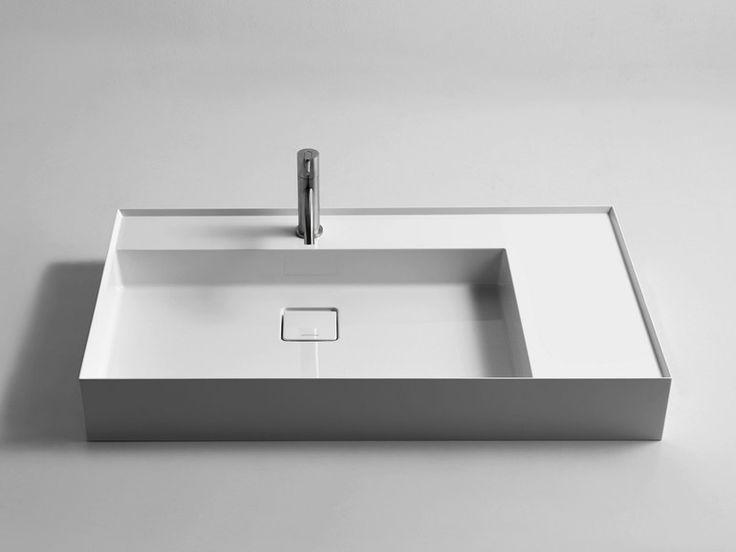 Rechteckiges Aufsatzwaschbecken aus Ceramilux® GRAFFIO90 Kollektion Graffio by Antonio Lupi Design®   Design Mario Ferrarini