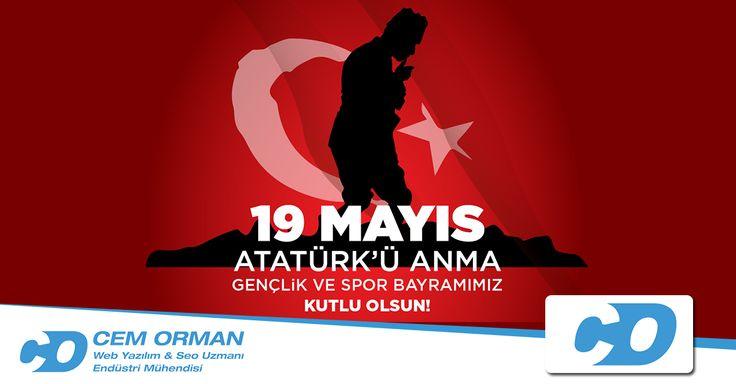 Benim naçiz vücudum elbet bir gün toprak olacaktır, ancak Türkiye Cumhuriyeti ilelebet payidar kalacaktır. (Atatürk) 19 Mayıs Atatürk'ü Anma, Gençlik ve Spor Bayramı'mız kutlu olsun. Ne Mutlu Türküm Diyene!