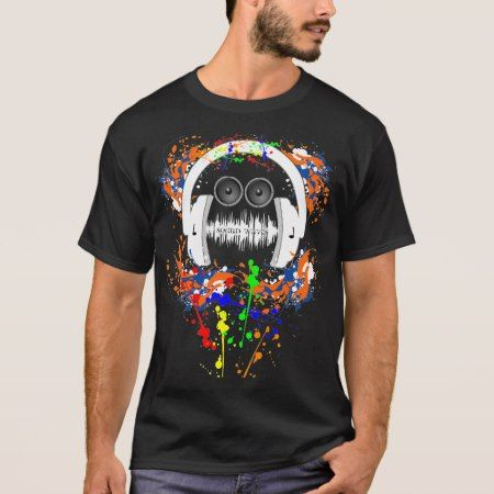Sound Waves Music Man T-Shirt - click to get yours right now!