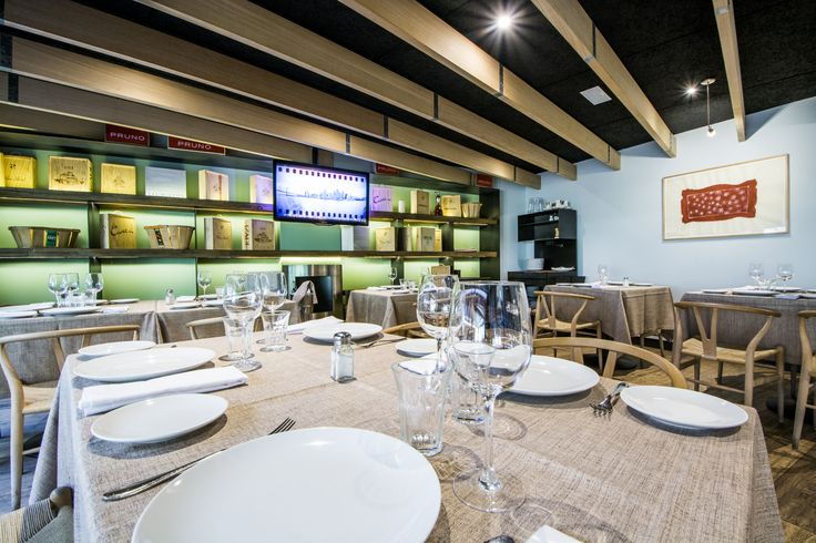 Zona de reservado en el restaurante LaMaquina de Chamberi.
