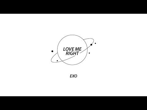EXO - Love me right (키네틱타이포 Kinetic Typography) - YouTube