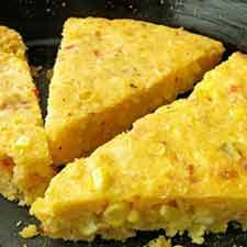 Sopa Paraguaya  - Paraguayan Soup, but it isn't soup at all.  It's the most amazing cornbread on the planet, and my friend, Lynnette, introduced me to it.  #vegetarian