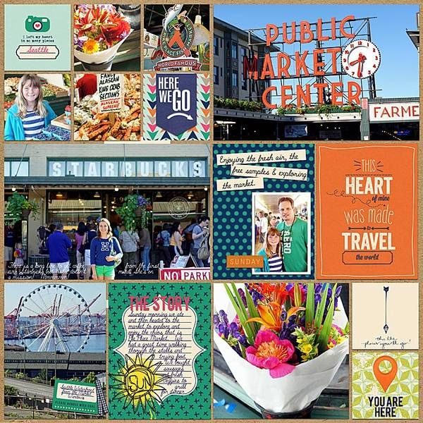 37 Best Seattle Scrapbook Images On Pinterest Scrapbook Layouts