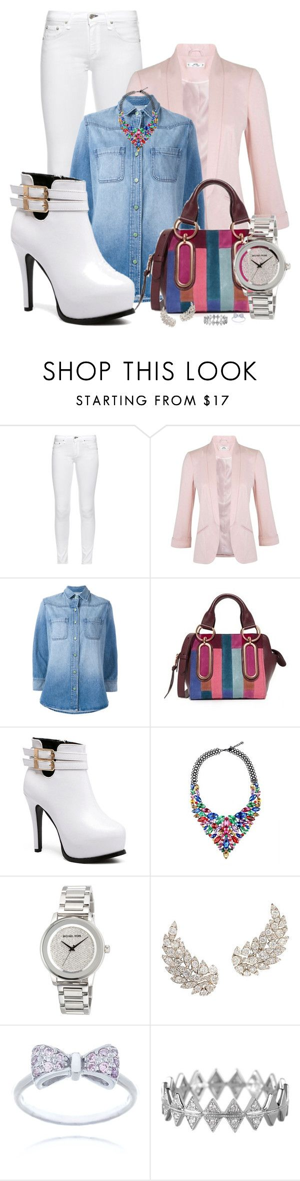"""Modern Muse 2"" by spells-and-skulls ❤ liked on Polyvore featuring rag & bone, Miss Selfridge, Sandrine Rose, See by Chloé, MICHAEL Michael Kors, Bony Levy, modern, skinnyjeans, MissSelfridge and ankleboots"