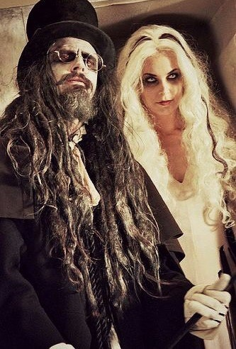 Rob and Sheri Moon Zombie on the set of shooting the Living Dead Girl music video.