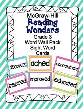 mcgraw hill reading wonders 3rd grade pdf