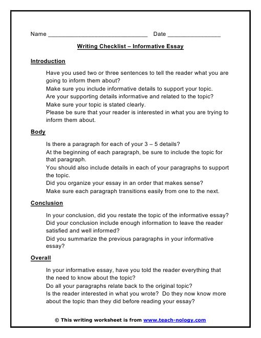 how to write an informative essay  informative essay