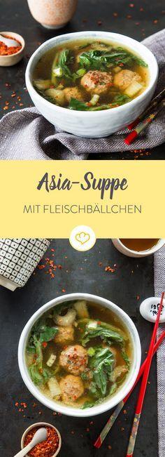 Heiße Brühe für kalte Tage: Asiasuppe mit Fleischbällchen