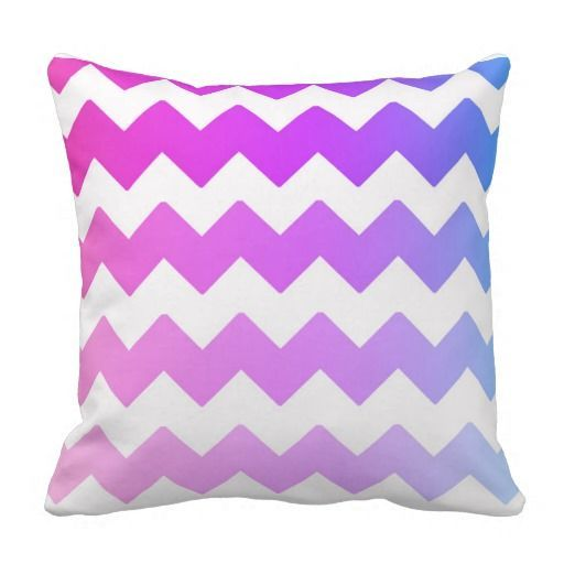 Rainbow Ombre Chevron Throw Pillow | Zazzle.com