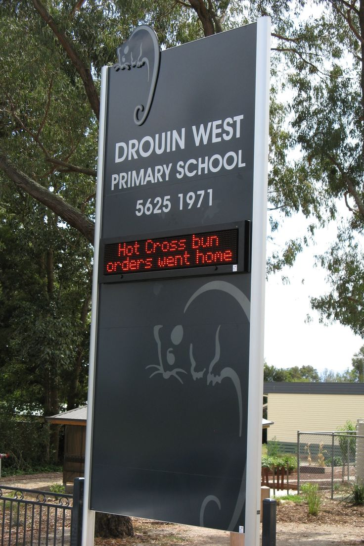 Drouin West Primary School #CSI #CorporateSignIndustries #LED #possum #schoolsign #signage #LEDsignage #recognition #identity #school #communication #branding