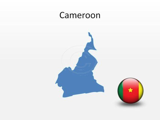 Cameroon PowerPoint Map Shape. 100% editable in PowerPoint!