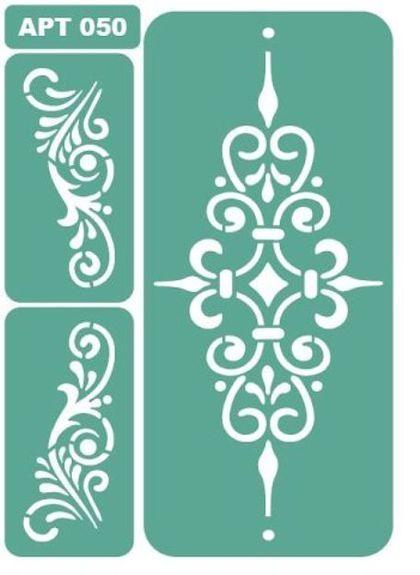 трафарет 050 - зелёный,трафарет,трафареты,Декупаж,материалы для творчества