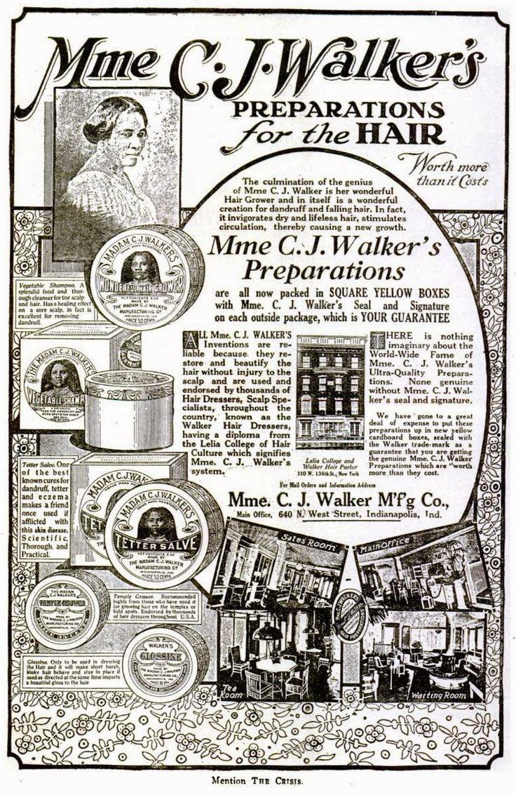 Related image Black hair history, Madam cj walker