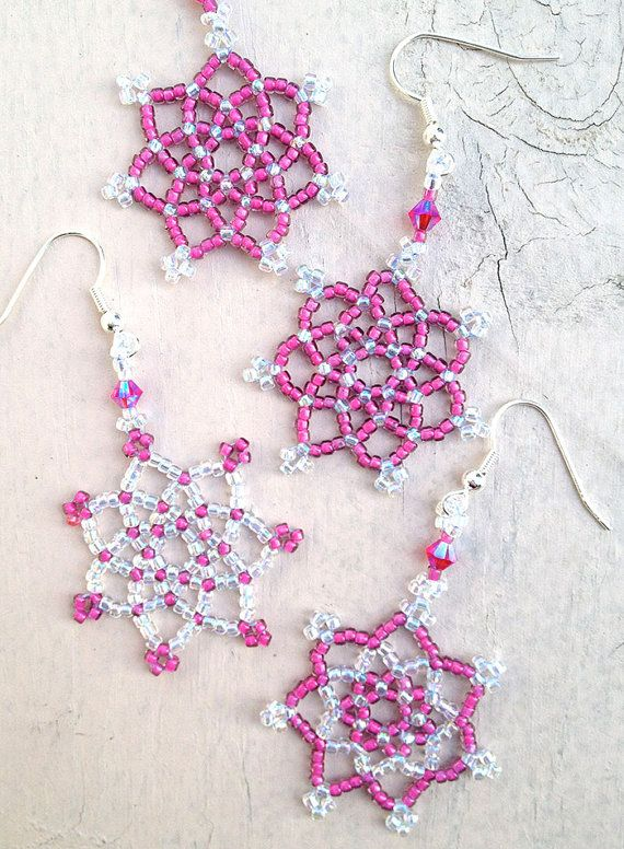 Beaded Snowflakes and Stars pattern $7.00