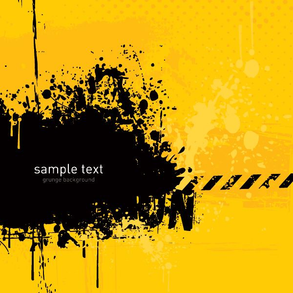 Grunge Background Vector Graphic — template, yellow