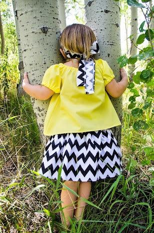 Girls Peasant Shirt & Chevron Skirt Set  You by MacKenzieNoelle, $30.00: Chevron Skirt
