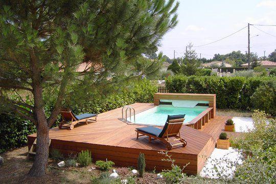 piscine hors sol en bois....j'aime!!!