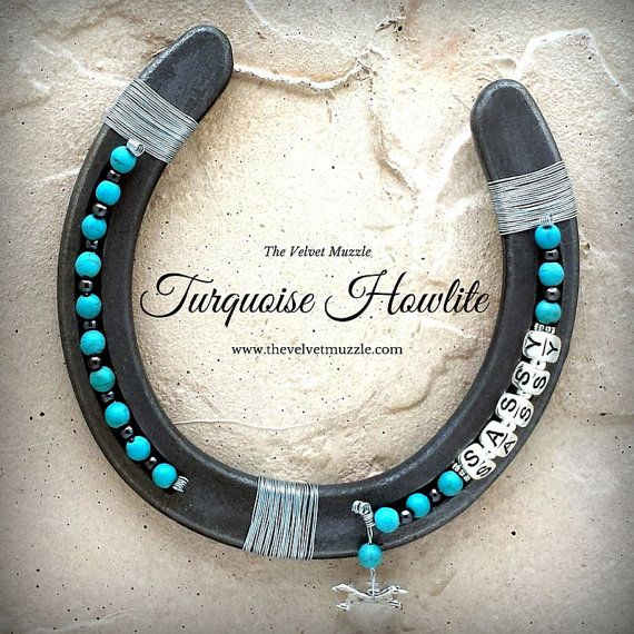 Turquoise Howlite Custom Personalized Lucky Horseshoe. Give the gift of Good Luck to yourself, your child, that very special Teacher or rad Grad…