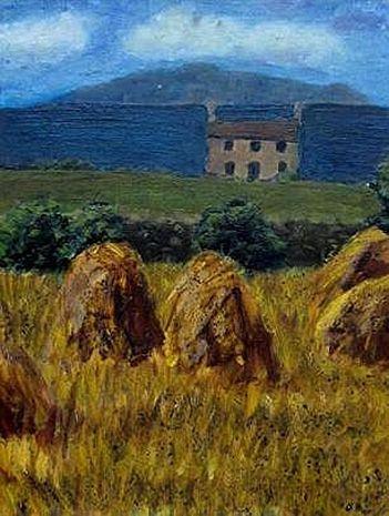 Iers landschap Olieverf schilderij