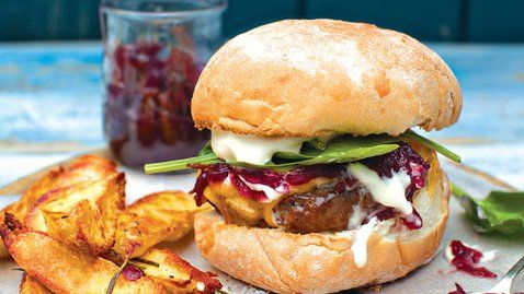 Superburger with Red Onion Marmalade, Cheddar and Sour Cream - RTE ...