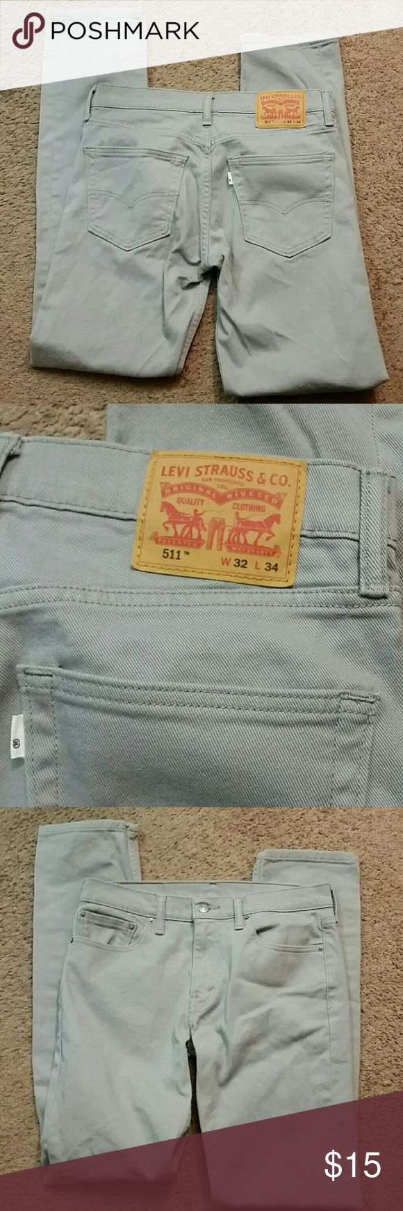 Mens Levi Strauss & Co 511 Pants Skinny style mens Pants. Gray and in good condition. A good buy. Levi's Pants