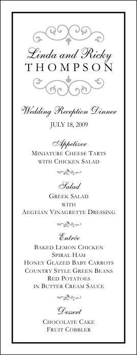 Wedding Menu Template 9