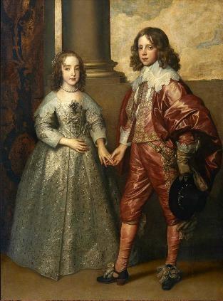< 왕자 시절의 오렌지공 윌리엄과 그의 장래 신부 메리 스튜어트의 초상 >안톤 반 다이크, 17세기 전반.   어린 신랑 신부이다. 성숙하기 보다는 귀엽다. 어린 나이에 벌써 반려자가 정해지고, 가문의 장래를 짊어져야 한다니 안타깝기도 하다. 하지만 둘이 좋다면야! 문제는 사랑하지 않는데도 가문이 엮어준 인연일 것이다. 그림의 신랑 신부는 손을 살며시 잡고 있는데 애정이 느껴지고  풋풋해 보인다.
