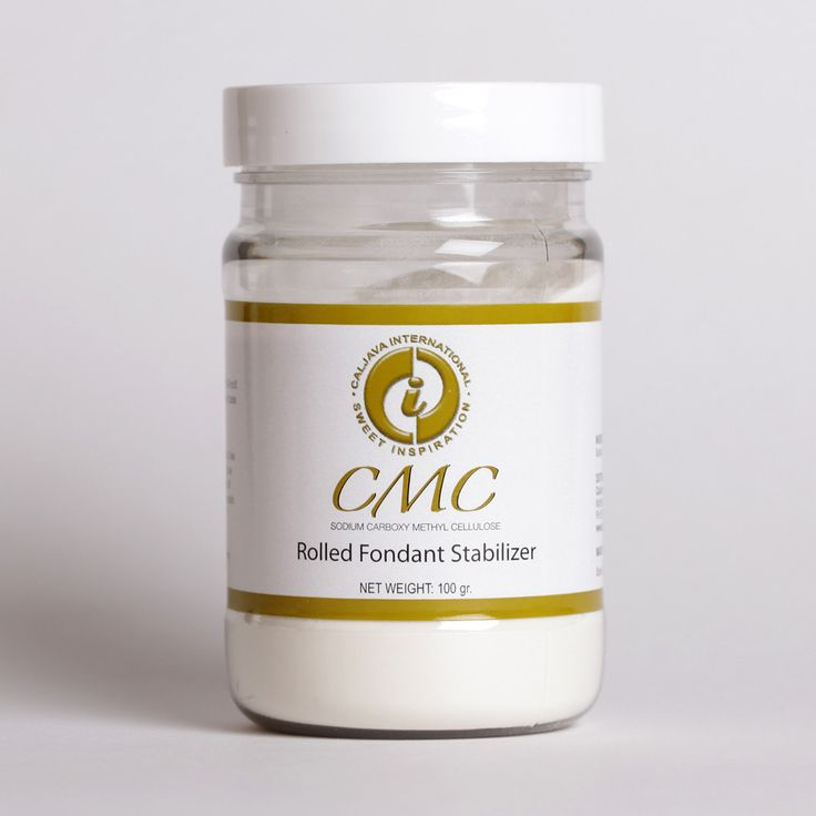 Rolled Fondant additive designed to add into fondant to help dry faster & harder. Cake decorating is much easier with CMC (Tylose Powder) to help with fondant. CMC - Fondant Stabilizer 100 grams. Tylose Powder for cake decorating.