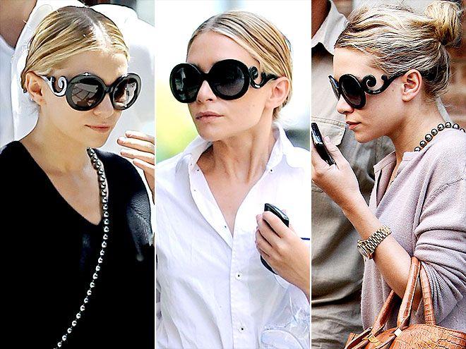 Prada 'Minimal Baroque' sunglasses have such a glamorous curlicue frame....