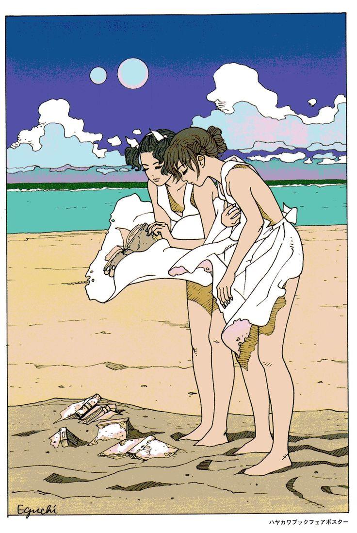 江口寿史 ハヤカワブックフェアポスター