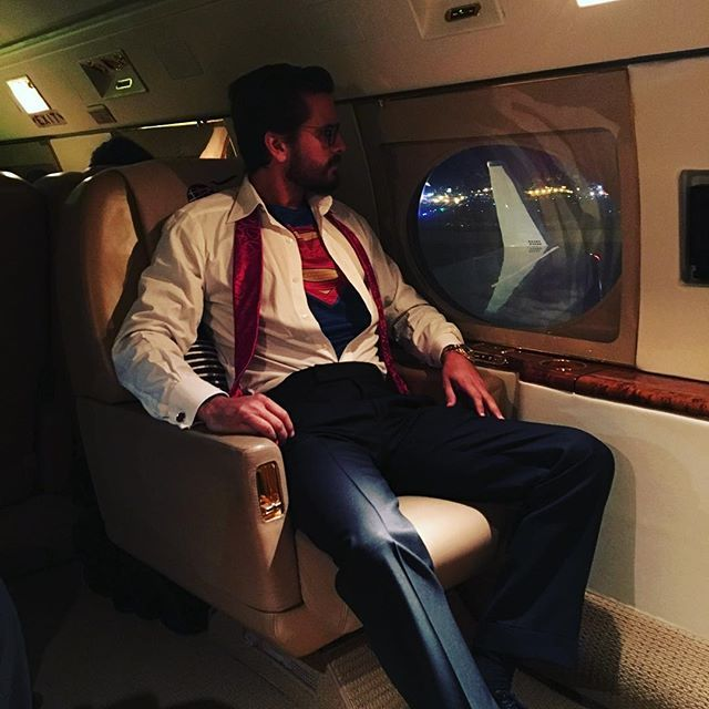 Scott Disick @letthelordbewithyou: @jetluxlife only way 2 fly
