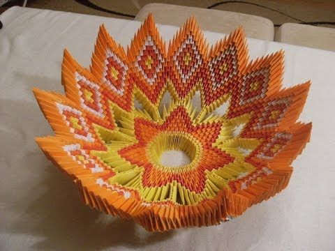 3D origami - BOWL for fruits - misa na owoce - how to make instruction - YouTube