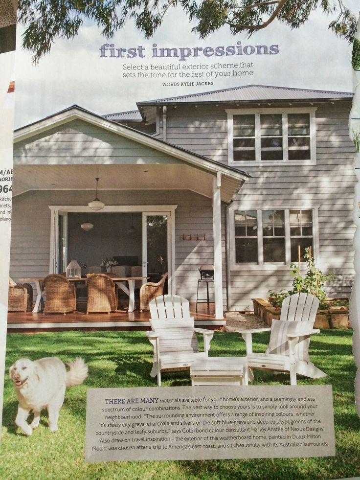 Home Beautiful magazine - exterior colour