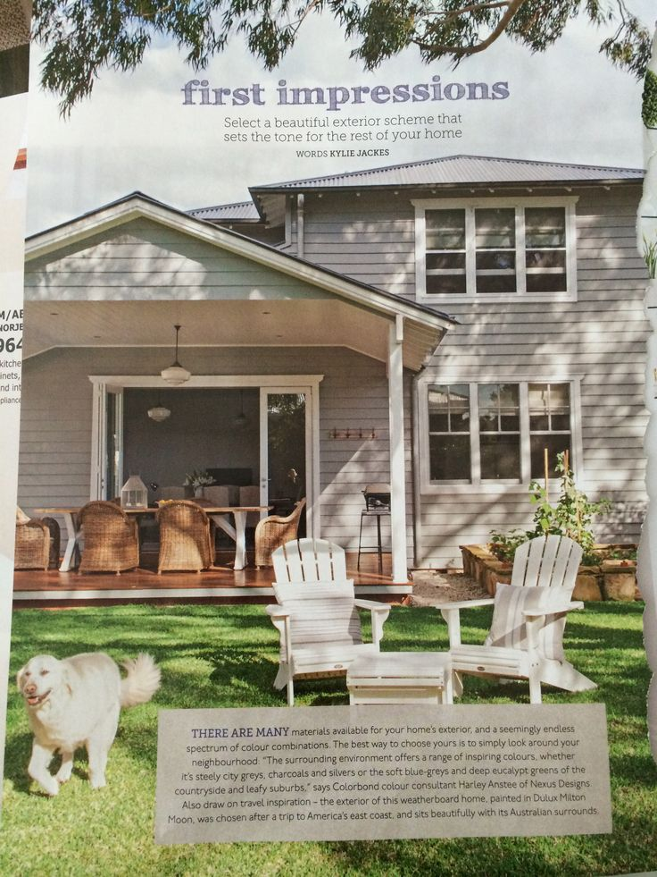 Home Beautiful magazine - exterior colour