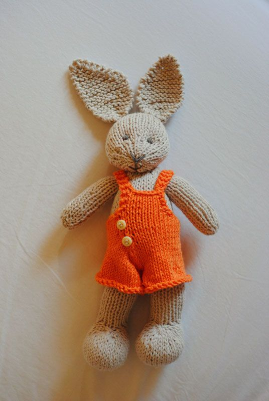 Hand Knit Bunny Knitted toy Knit Rabbit Animal by Hilitos, $46.00